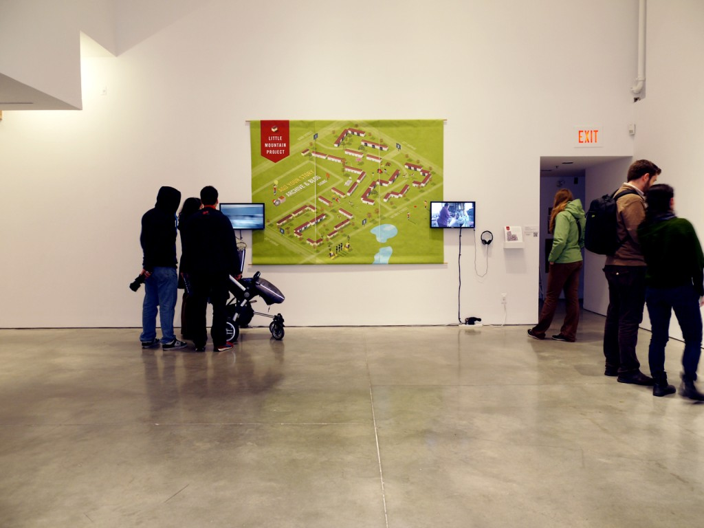 The Little Mountain Project, installation view at ECUAD