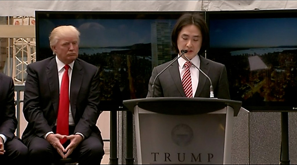 Holborn's Joo Kim Tiah and Donald Trump - we're trusting them to build the new Vancouver